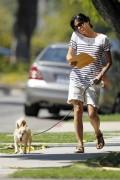 Сельма Блэйр, фото 6. Selma Blair 'Walking her Dog in L.A.' August, photo 6